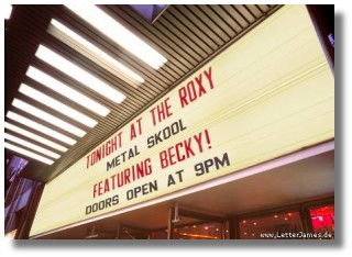 becky plays tonight at the Roxy in Hollywood