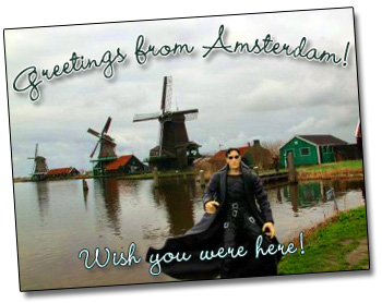 Neo went to visit Julie! in Amsterdam and all I got was this blog entry!