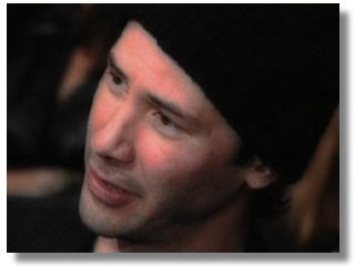 Keanu at the game party