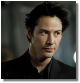 Actor and cast member Keanu Reeves, who stars as Neo, arrives for the world premiere of the film 'Matrix Revolutions' at the Walt Disney Concert Hall in Los Angeles, October 27, 2003. Shown here as he glances around looking for a mysterious 'krix', whom Joel Silver promised he had left a voice mail invitation for. Part of this caption is not real, see above picture for Photo Credit