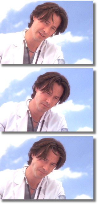 if I woke from a faint and saw this, I'd be sure I'd died and gone to heaven. SGG grabs from KEANU A-Z.com