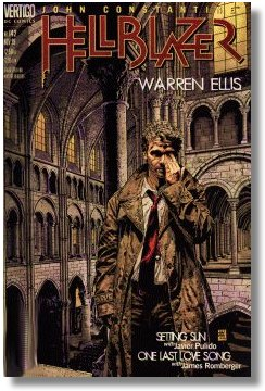 cover of a Hellblazer written by Warren Ellis