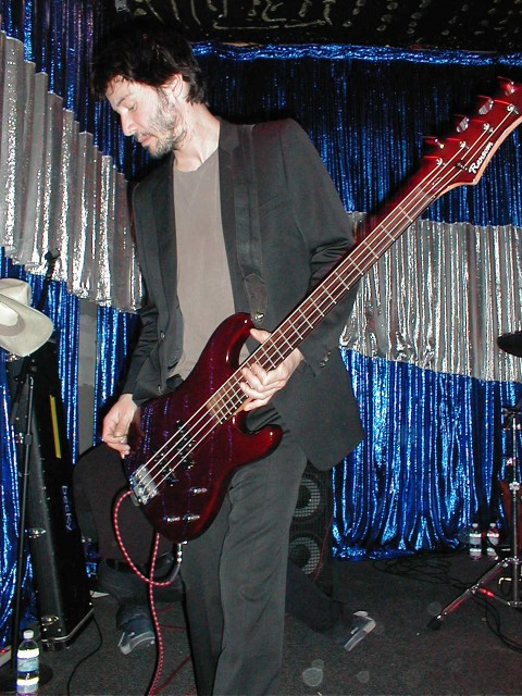 Keanu and his bass at Spaceland. photo by me